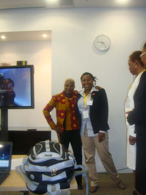 Chibwe Henry, DfAD CEO and IF Diaspora Working Group Co-Chair with UNICEF Goodwill Ambassador, Angélique Kidjo and IF Ambassador at the Enough Food For Everyone IF High Level Nutrition for Growth Event on 8th June 2013, London