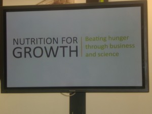 Nutrition for Growth: Beating Hunger through Business and Science' 8 June 2013