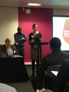 Sally Copley Seconding the Diaspora Motion at the Bond AGM